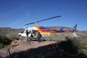 helicopter out of the grand canyon