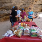 lunch on the colorado river in the grand canyon