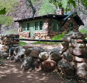 A Phantom Ranch cabin at the bottom of the Grand Canyon. Photo Credit: NPS by Erin Whittaker